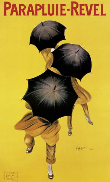 Reproducción de arte Poster advertising 'Revel' umbrellas, 1922