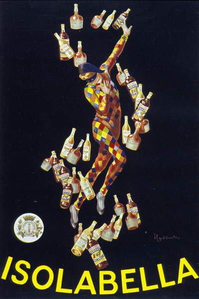 Reproducción de arte Poster for Isolabella. Illustration by Leonetto Cappiello. 1910.