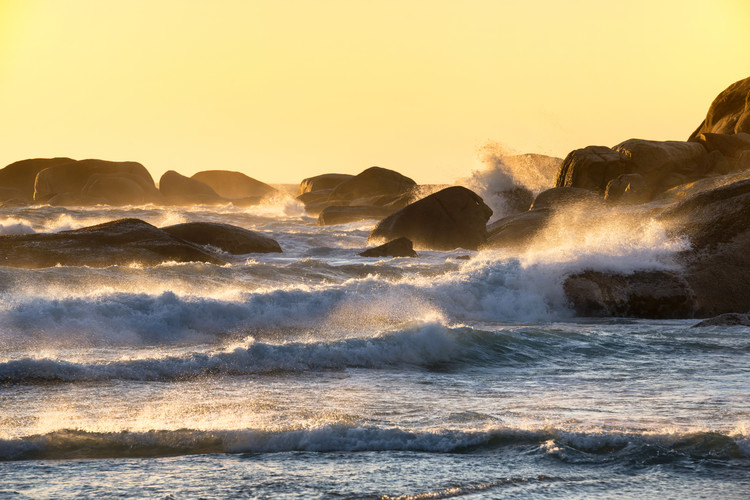 Photographie d'art Powerful Ocean Wave at Sunset