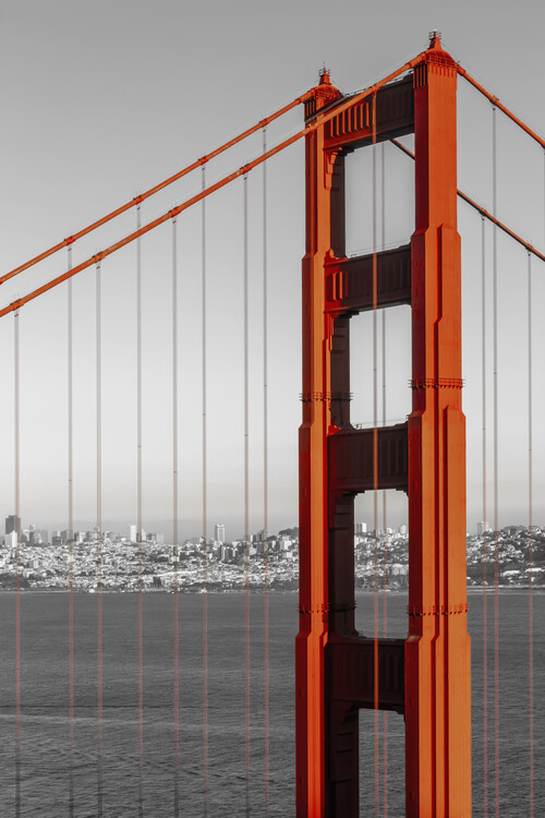 Arte fotográfico SAN FRANCISCO Golden Gate Bridge | colorkey