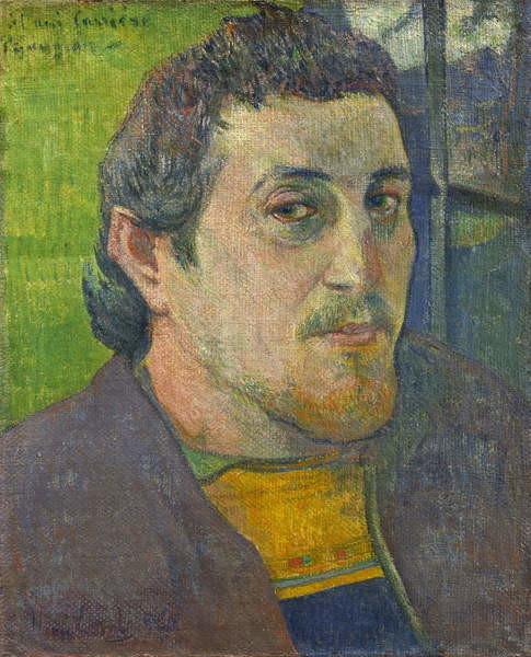 Reproducción de arte Self Portrait dedicated to Carriere, 1888-1889