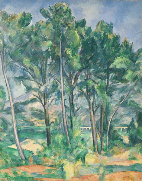 Reproducción de arte The Aqueduct (Montagne Sainte-Victoire seen through Trees), c.1885-87