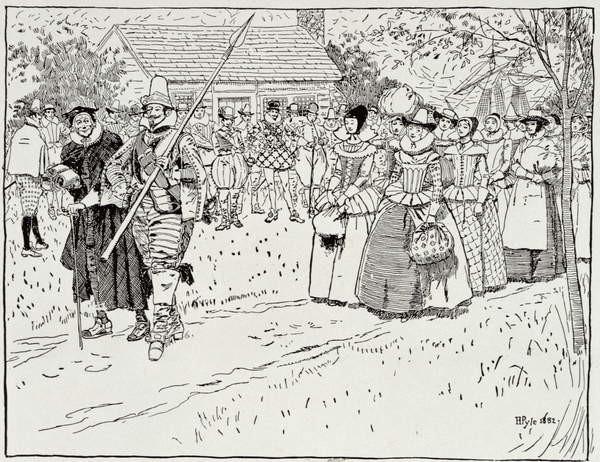 Reproducción de arte The Arrival of the Young Women at Jamestown, 1621, from Harper's Magazine, 1883