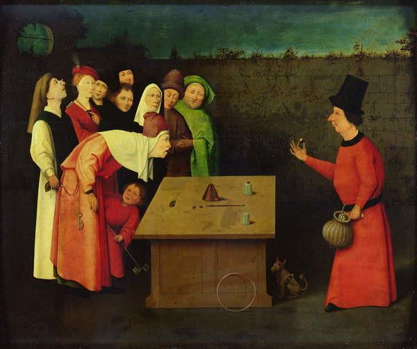 Reproducción de arte The Conjuror (oil on panel)