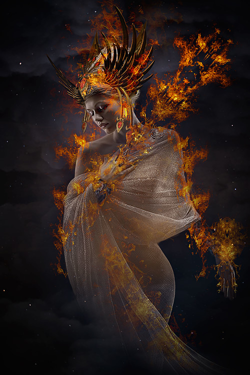 Kunst fotografie The Fire Princess