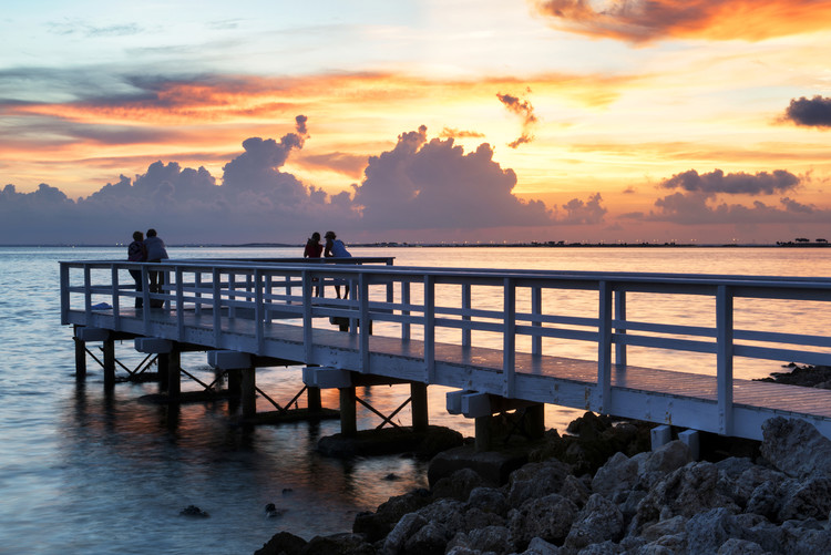Photographie d'art The Pier at Sunset Lovers