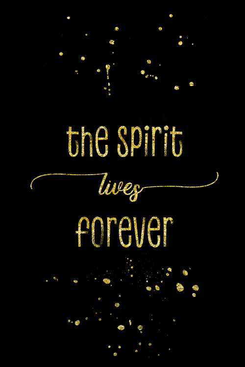 Kunst fotografie The Spirit Lives Forever | Gold