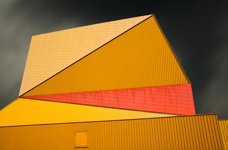 Kunst fotografie The yellow roof