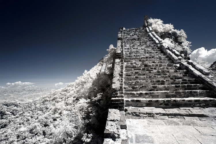 Arte fotográfico White Great Wall of China