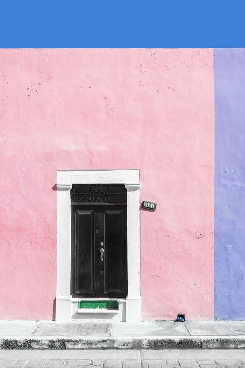 Umelecká fotografia 124 Street Campeche - Pink & Purpe Wall