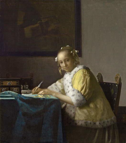 Obrazová reprodukce A Lady Writing, c. 1665