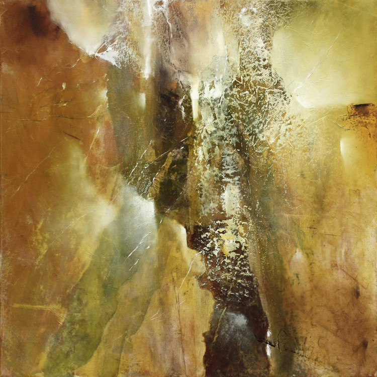 Umělecká fotografie Abstract composition in green and brown