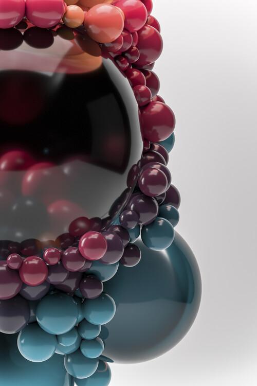Umjetnička fotografija Abstract particles gradient series 1
