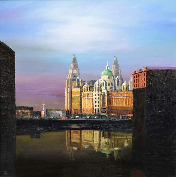 Stampa artistica Albert Dock, Liverpool, 2008
