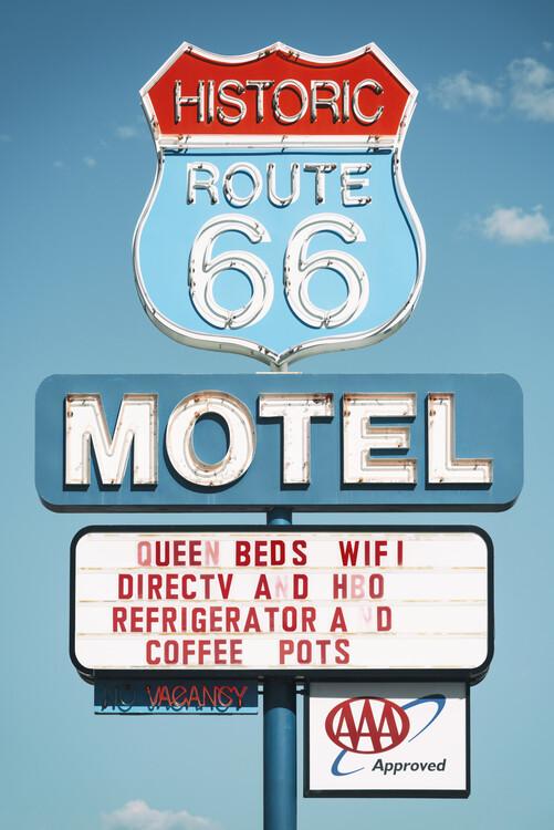 Umelecká fotografie American West - Motel 66
