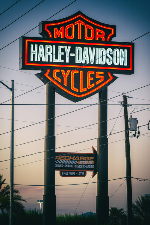 Umelecká fotografie American West - Vegas Motor Cycles