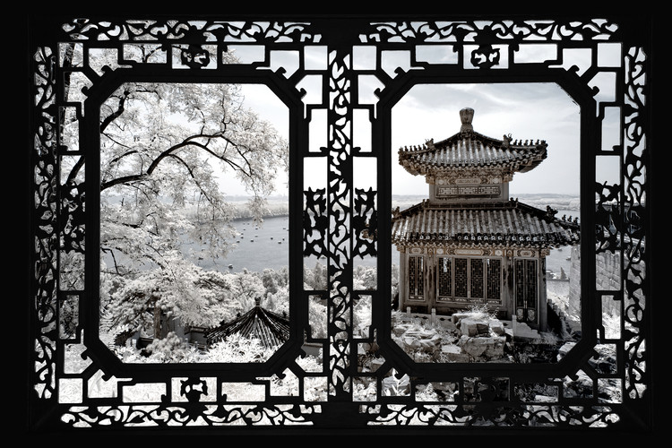 Umělecká fotografie Asian Window - Summer Palace