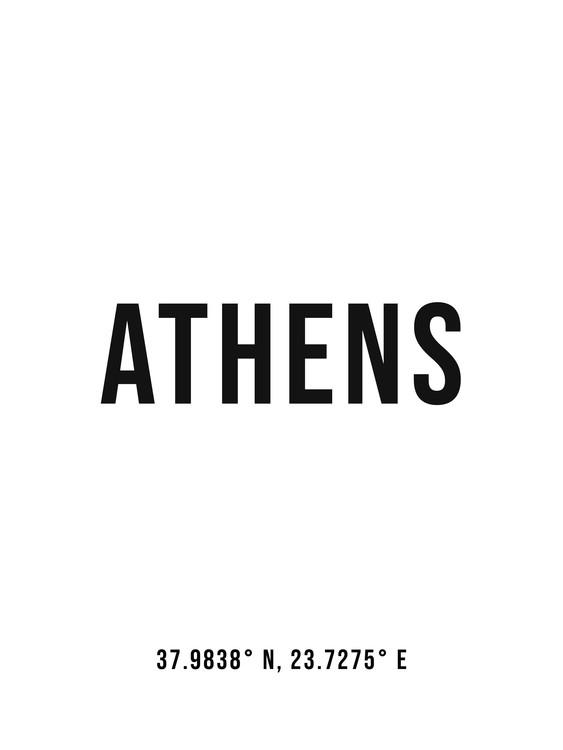 Kunst fotografie Athens simple coordinates