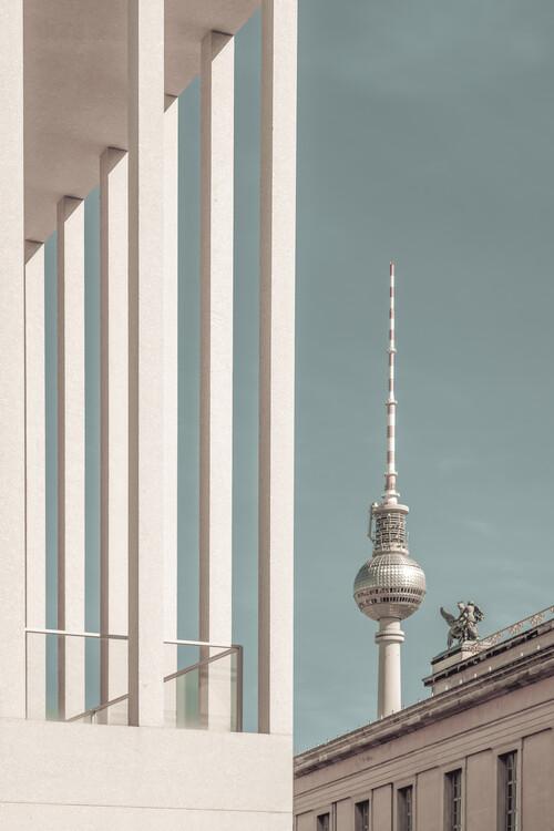 Fotografia artystyczna BERLIN Television Tower & Museum Island | urban vintage style