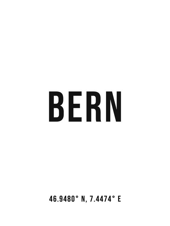 Umelecká fotografia Bern simple coordinates