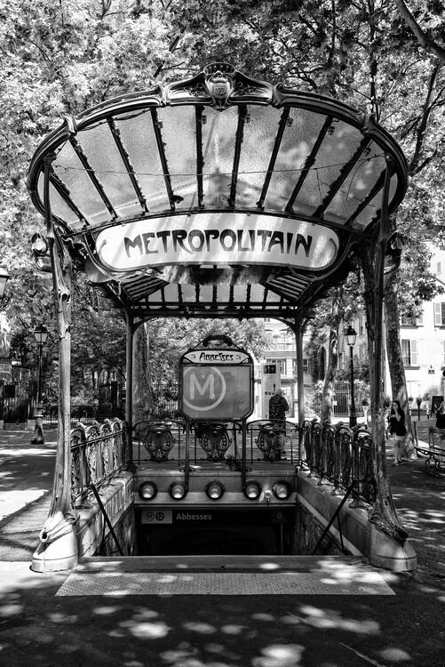 Konstfotografering Black Montmartre - Abbesses Metropolitain