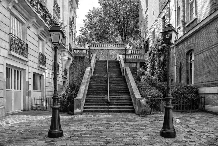Kunstfotografie Black Montmartre - Between two Lamps