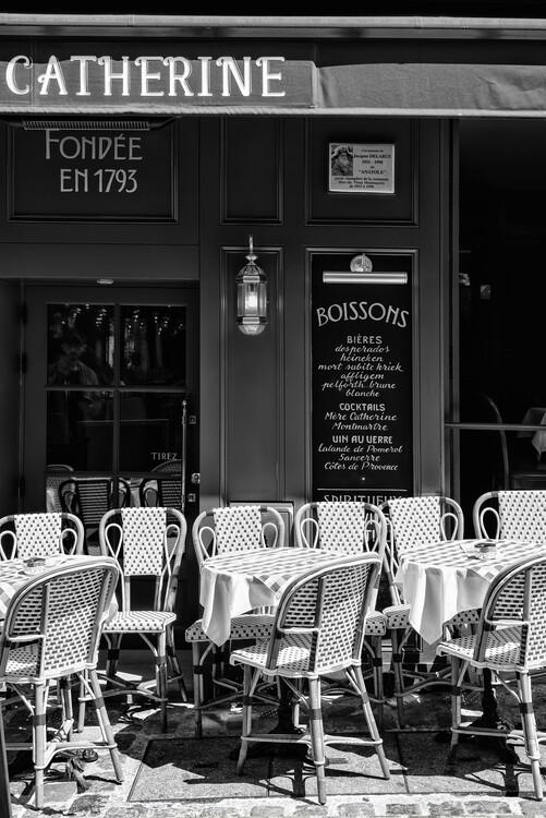 Konstfotografering Black Montmartre - Café Paris
