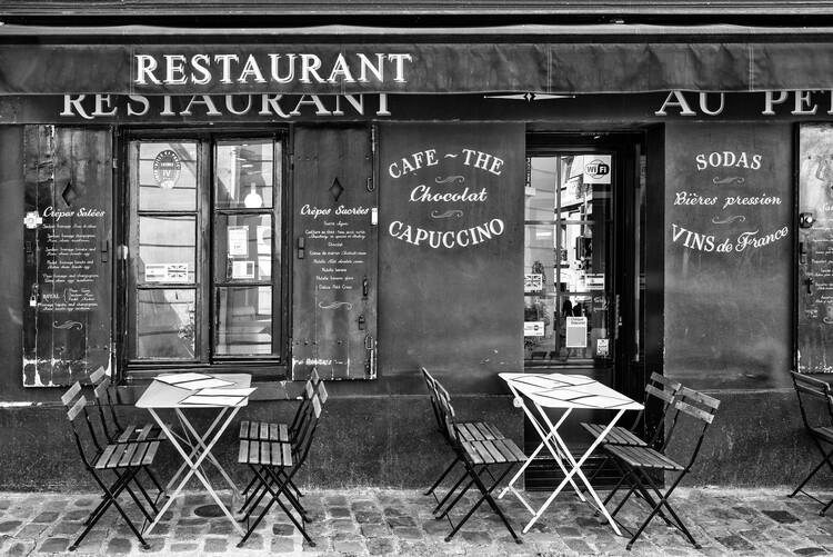 Konstfotografering Black Montmartre - Café Restaurant