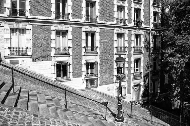 Konstfotografering Black Montmartre - French Architecture