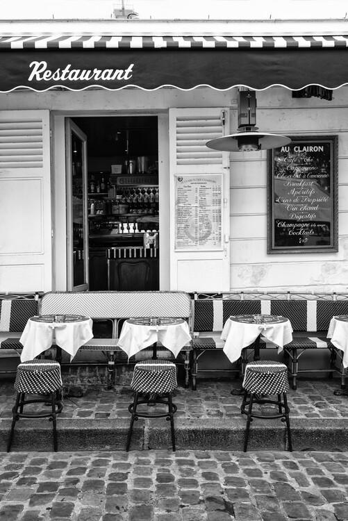 Konstfotografering Black Montmartre - French Restaurant
