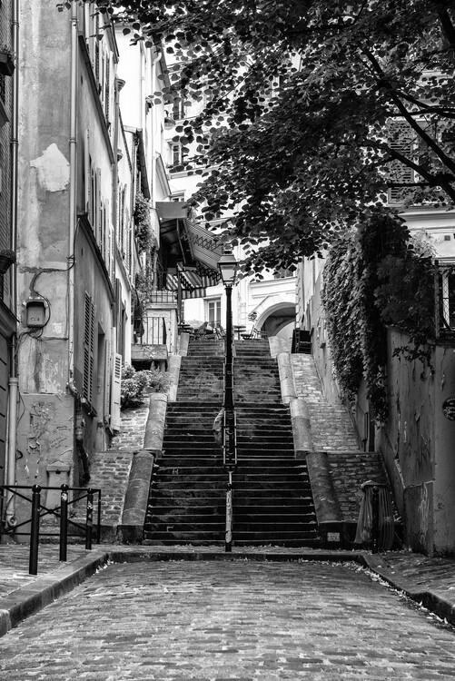 Konstfotografering Black Montmartre - French Street