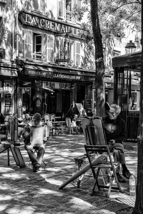Umělecká fotografie Black Montmartre - French Street Painters