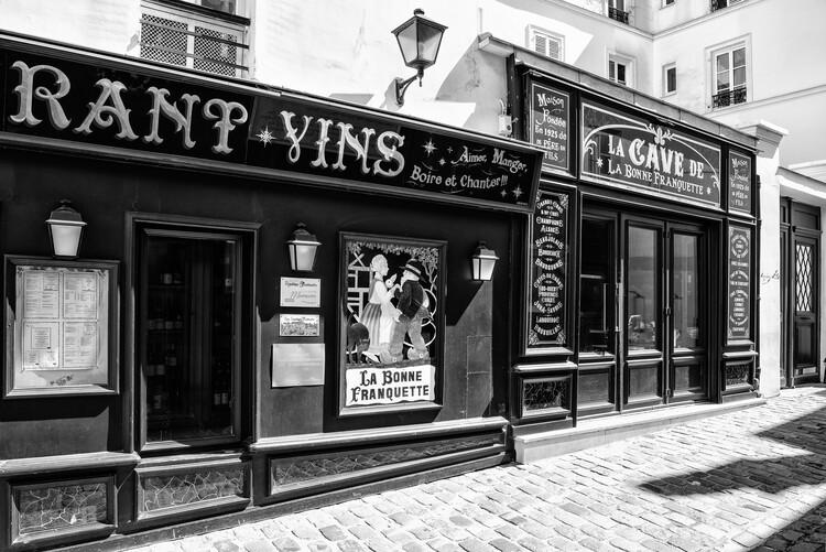 Konstfotografering Black Montmartre - La Bonne Franquette