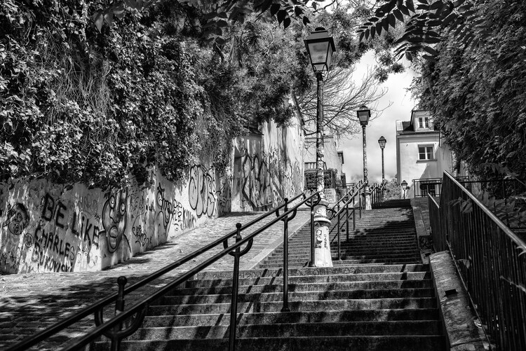 Konstfotografering Black Montmartre - La Butte Montmartre
