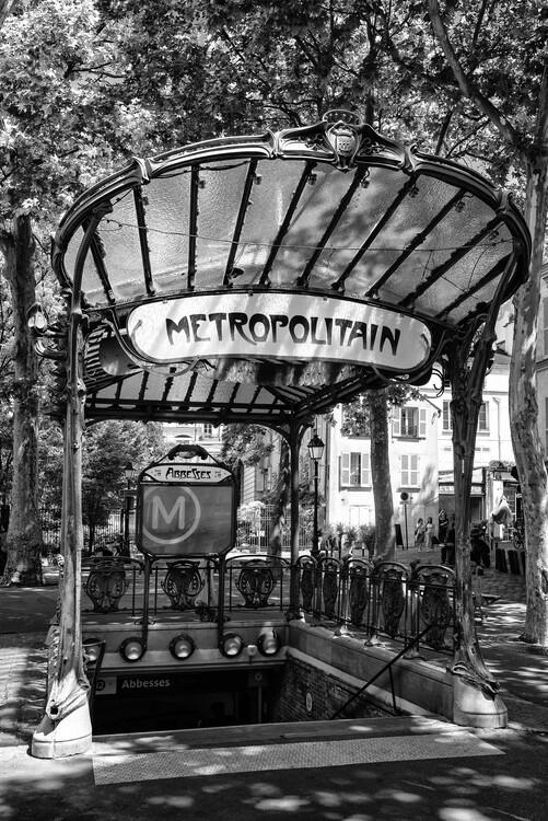 Konstfotografering Black Montmartre - Metro Abbesses