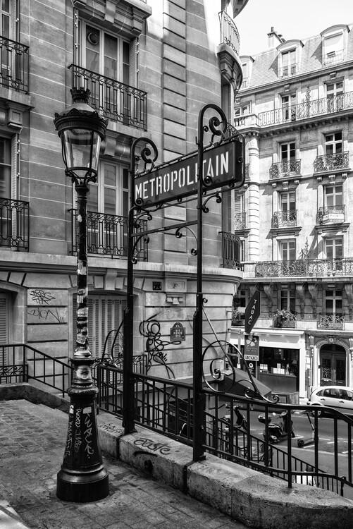 Kunstfotografie Black Montmartre - Metropolitain