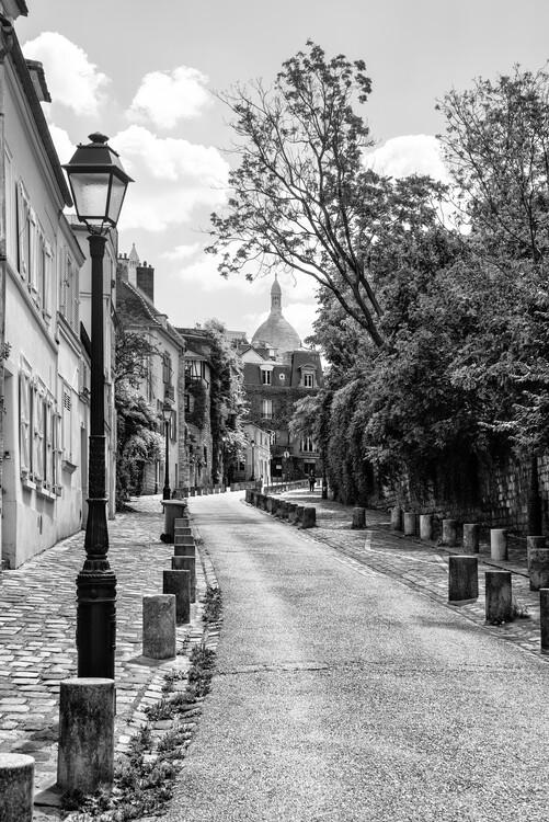 Konstfotografering Black Montmartre - Paris Je t'aime