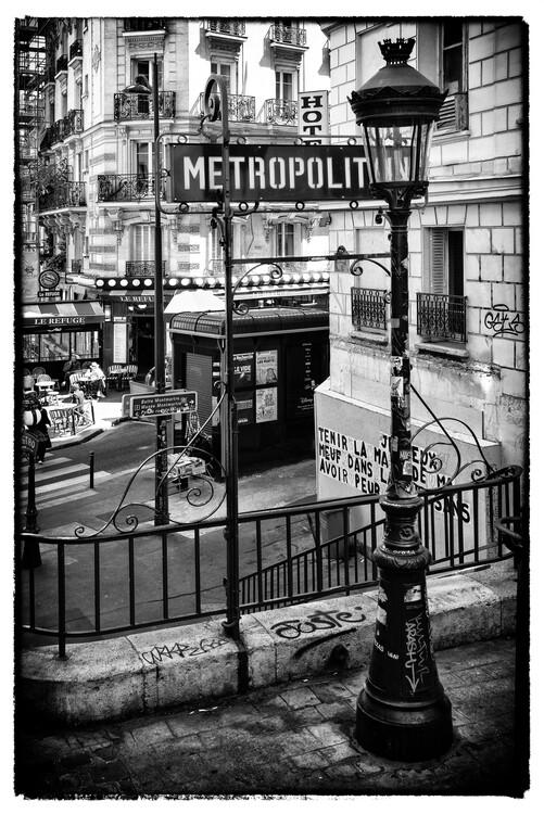Kunstfotografie Black Montmartre - Paris Metro