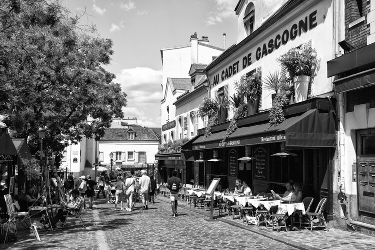 Konstfotografering Black Montmartre - Paris Place du Tertre