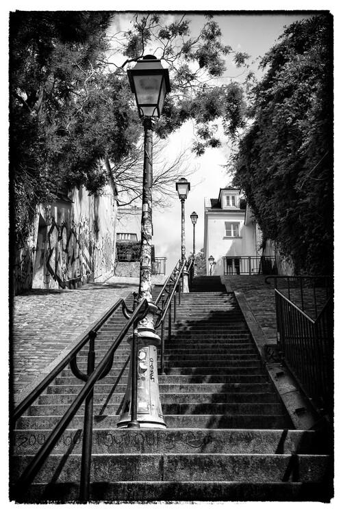 Kunstfotografie Black Montmartre - Paris Stairs