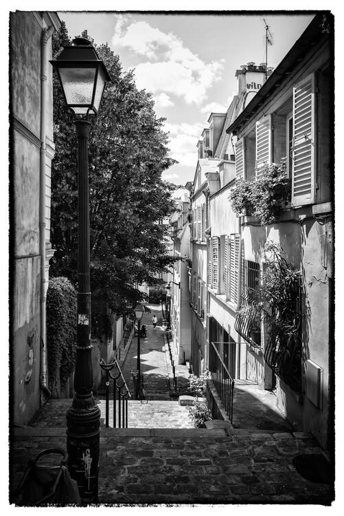 Konstfotografering Black Montmartre - Parisian Alley