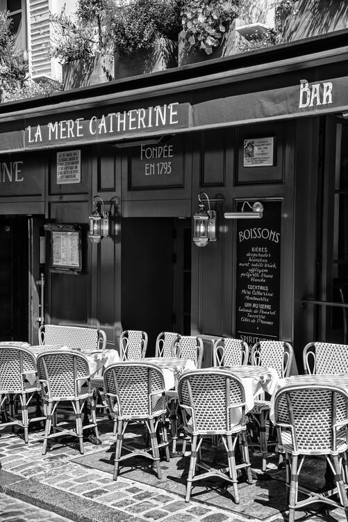 Konstfotografering Black Montmartre - Parisian Restaurant