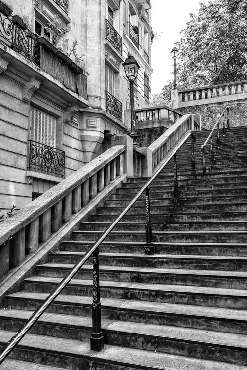 Kunstfotografie Black Montmartre - Parisian Stair Railing