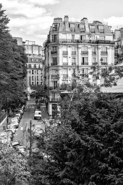 Konstfotografering Black Montmartre - Parisian Street