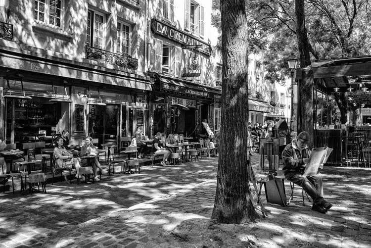 Konstfotografering Black Montmartre - Place du Tertre