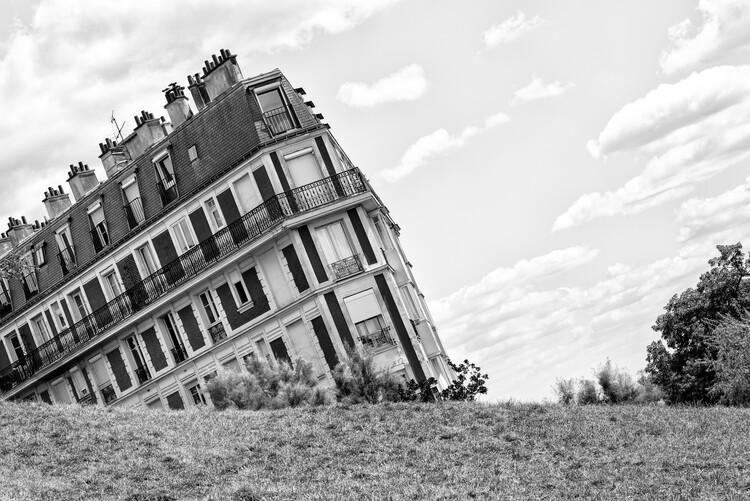 Konstfotografering Black Montmartre - Sinking Building