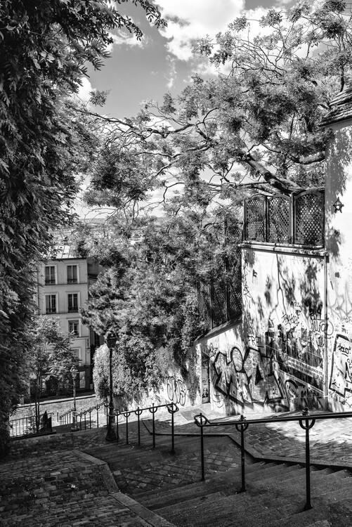 Konstfotografering Black Montmartre - Staircases