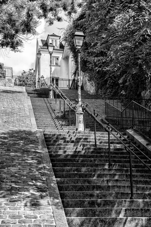 Kunstfotografie Black Montmartre - Stairs Climb