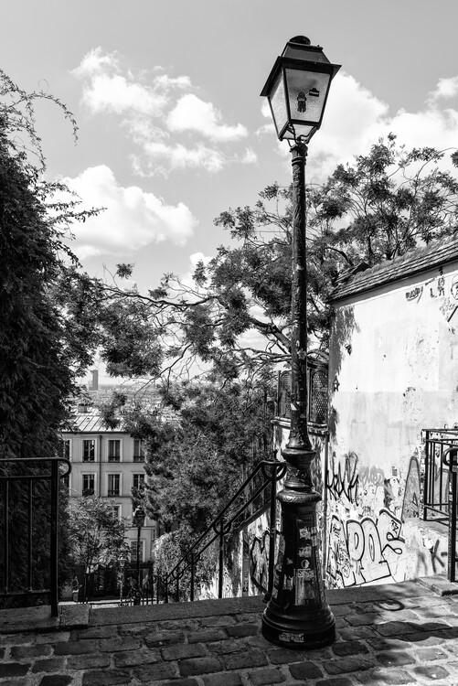 Konstfotografering Black Montmartre - Street Lamp