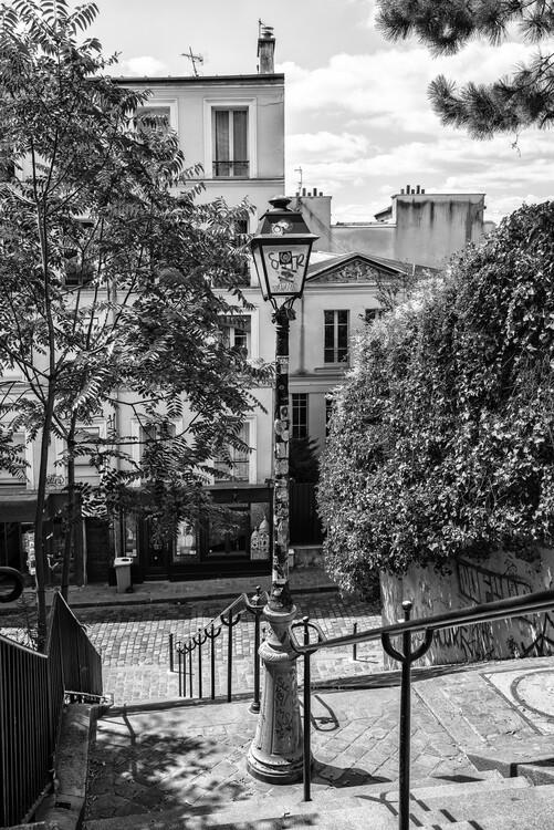 Konstfotografering Black Montmartre - Street of Paris